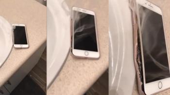 iPhone 7 kendi kendine böyle yandı!