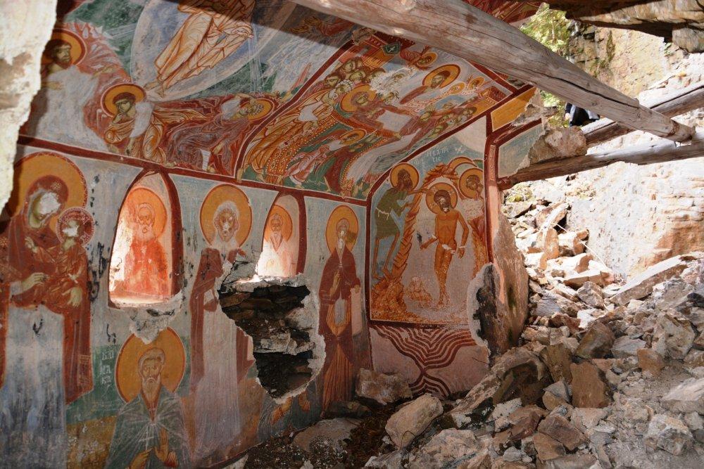 Sümela Manastırı'nda yeni bulunan şapel ilk kez görüntülendi