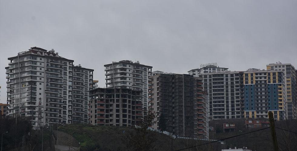Doğu Karadeniz'de satılan konut sayısı yüzde 17,4 düştü