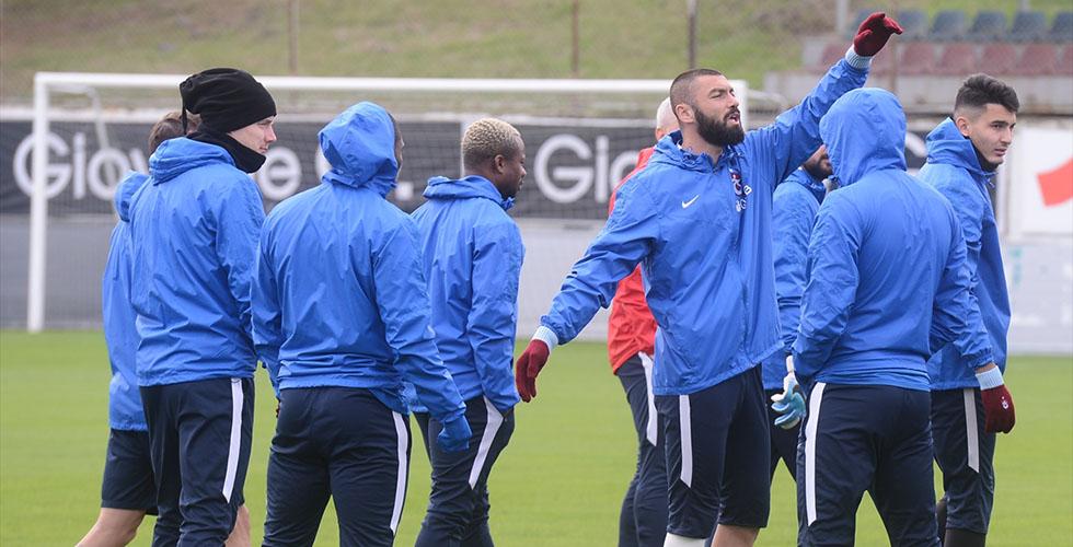 Trabzonspor, Atiker Konyaspor maçı hazırlıklarına başladı