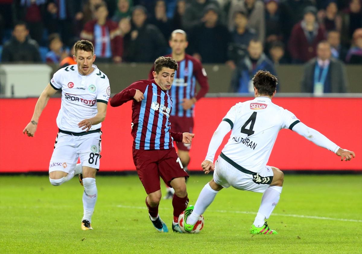 Trabzonspor ile Atiker Konyaspor 34. randevuda