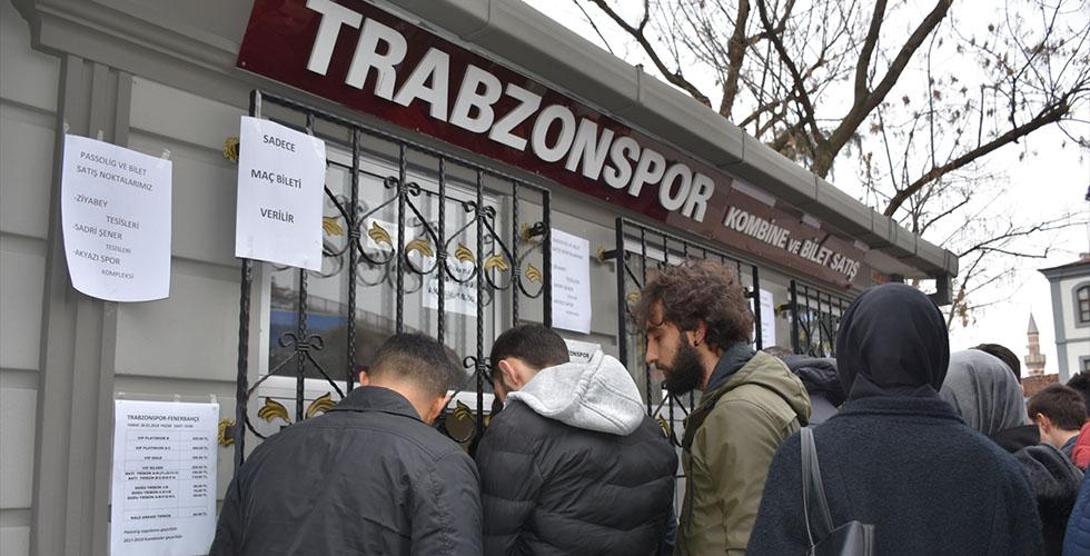 Trabzonspor-Fenerbahçe maçı biletleri tükendi