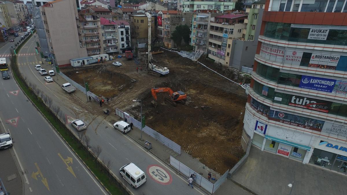 Trabzon'da tam otomatik otopark inşaatına başlandı