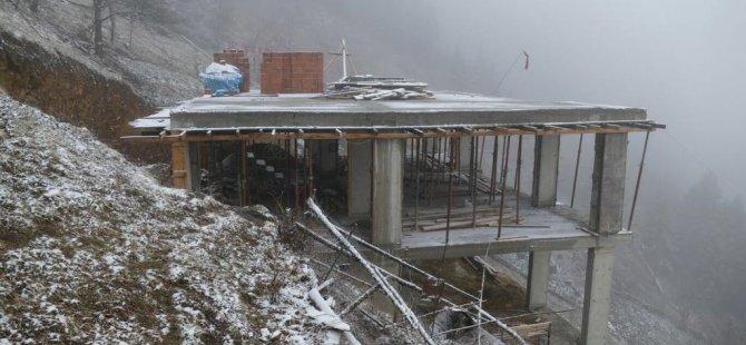 Şehit Eren Bülbül'ün evinin yapımı sürüyor