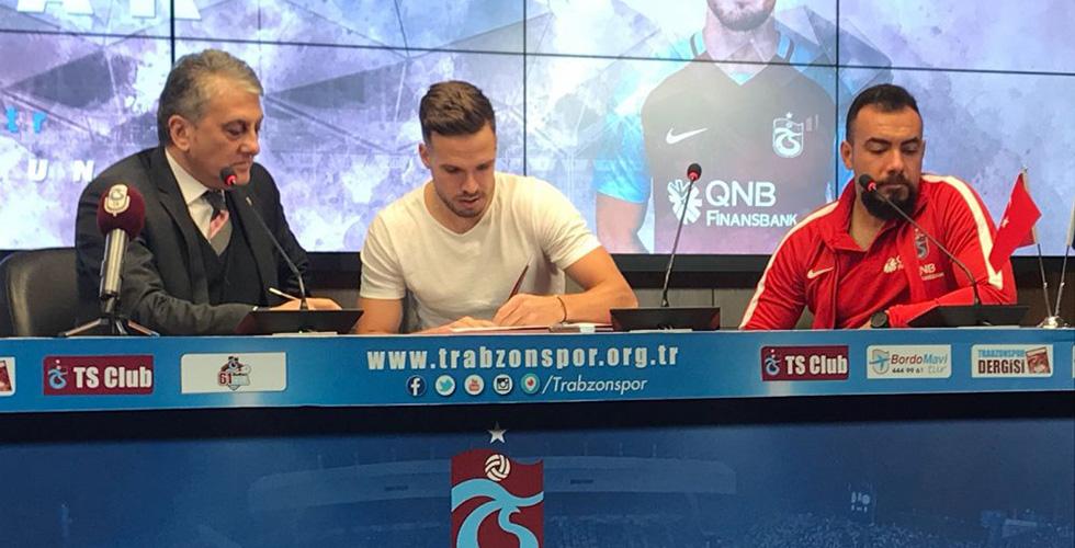 Trabzonspor Filip Novak imzayı attı
