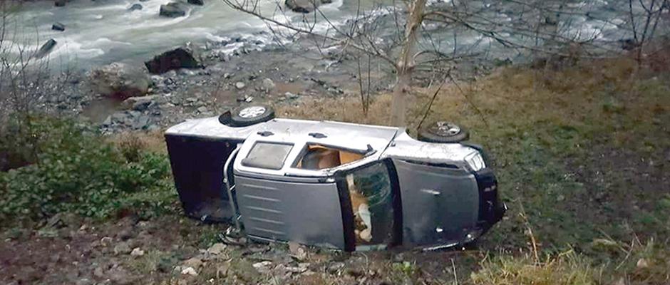 Trabzon'da meydana gelen kazalar korkuttu