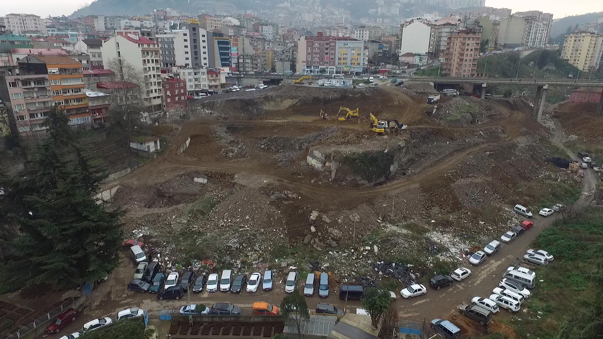 Trabzon'da kentsel dönüşüm çalışmaları