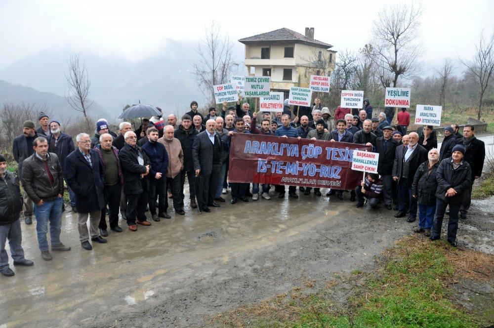 Trabzon'da katı atık bertaraj tesisi protestosu
