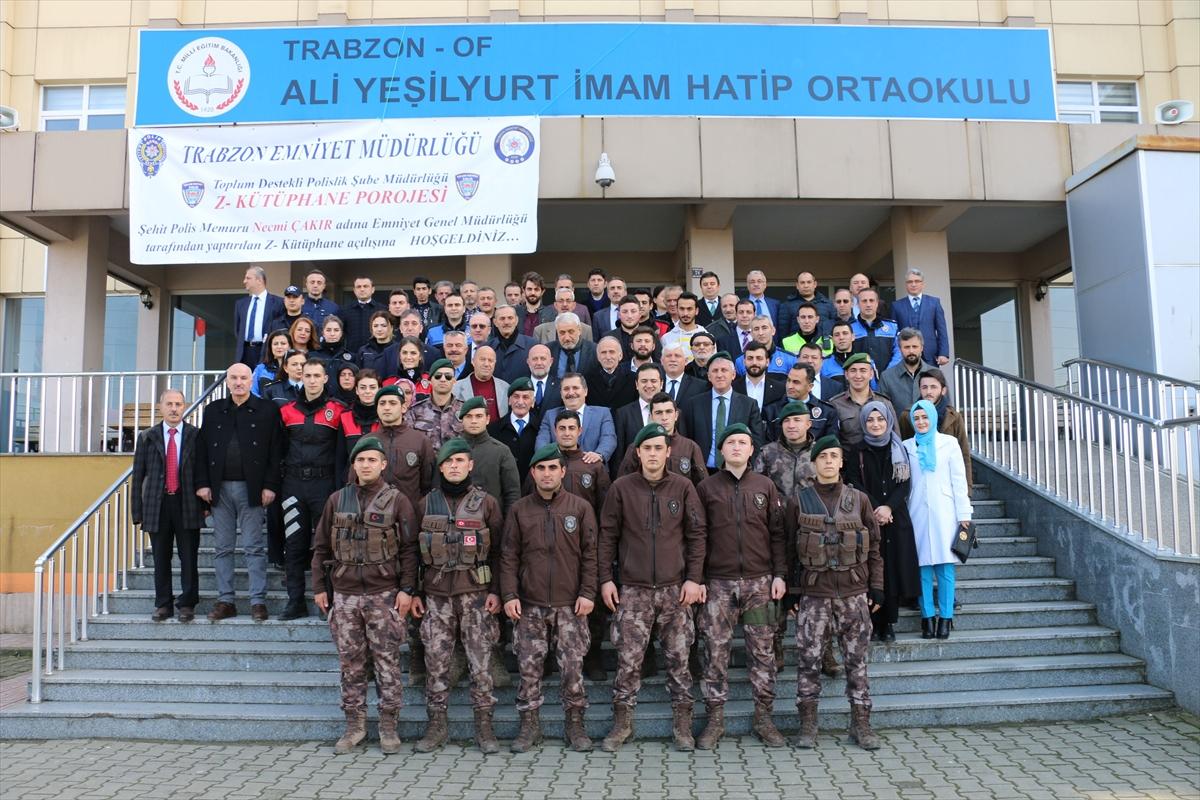 Şehit Polisin Adı Trabzon'da kütüphaneye verildi