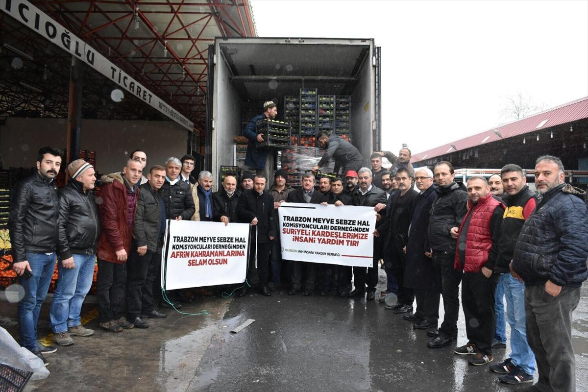 Trabzon'dan Suriye'deki sivillere meyve yardımı