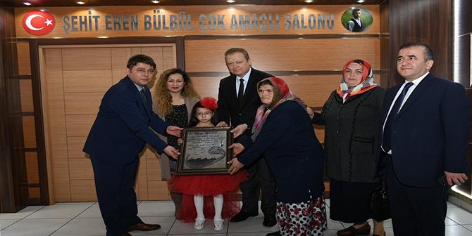 Şehit Eren Bülbül'ün adı konferans salonuna verildi