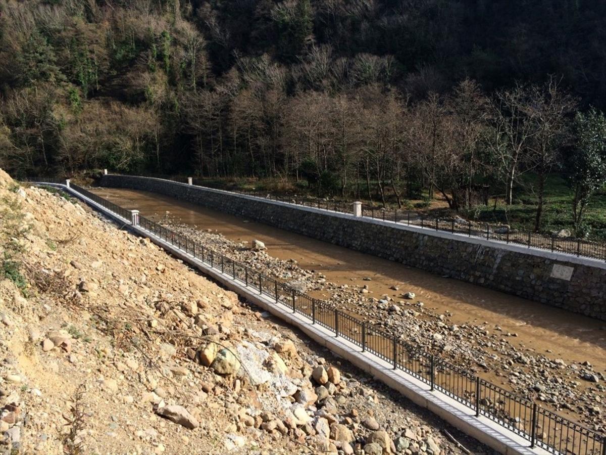 Trabzon'da 60,3 milyon liralık taşkın koruma tesisi hizmete açıldı