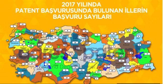 Trabzon 2017'de patent başvurusunda bölge birincisi