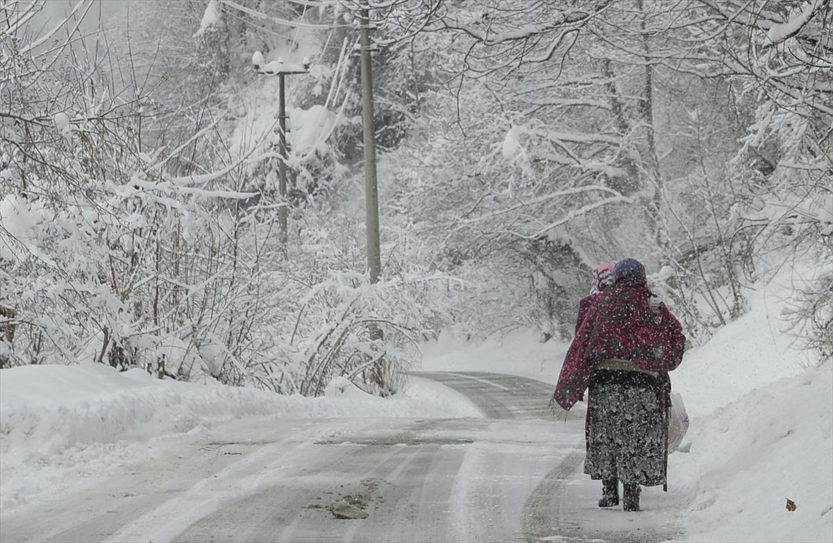 Trabzon'da Beklenen Kar Geliyor