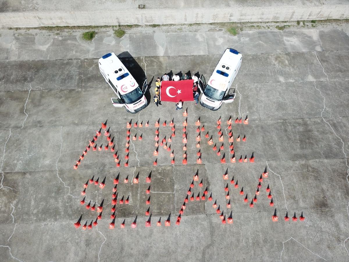 "Trabzon 112 personelinden ""Afrin'e Selam"""