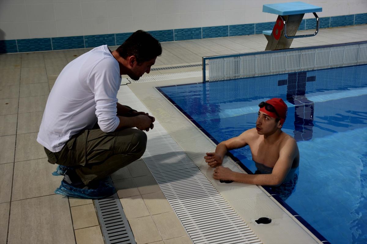 İyileşmek için başladığı yüzmede hedefi milli takım