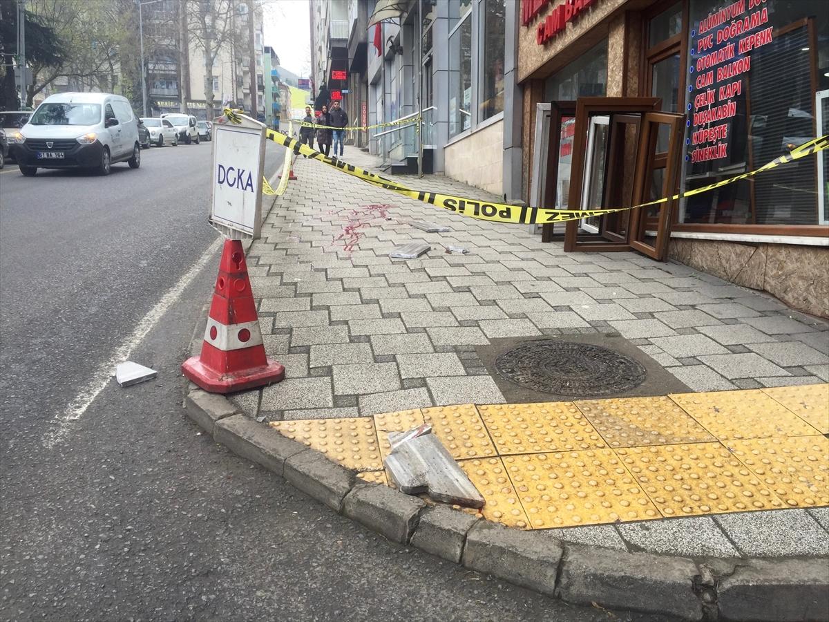 Trabzon'da kafasına mermer düşen kişi hayatını kaybetti