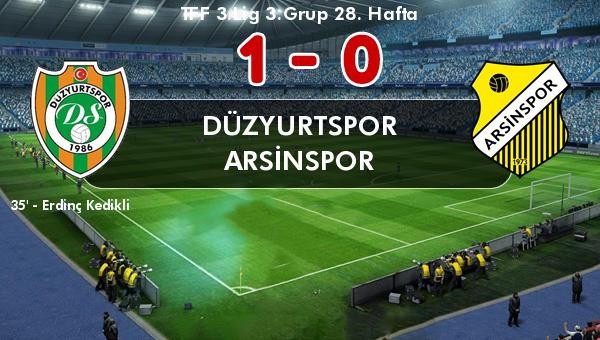 Arsinspor Trabzon Derbisini Kaybetti
