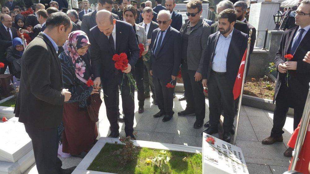 Soylu,Trabzon'a geldi, şehitliği ziyaret etti