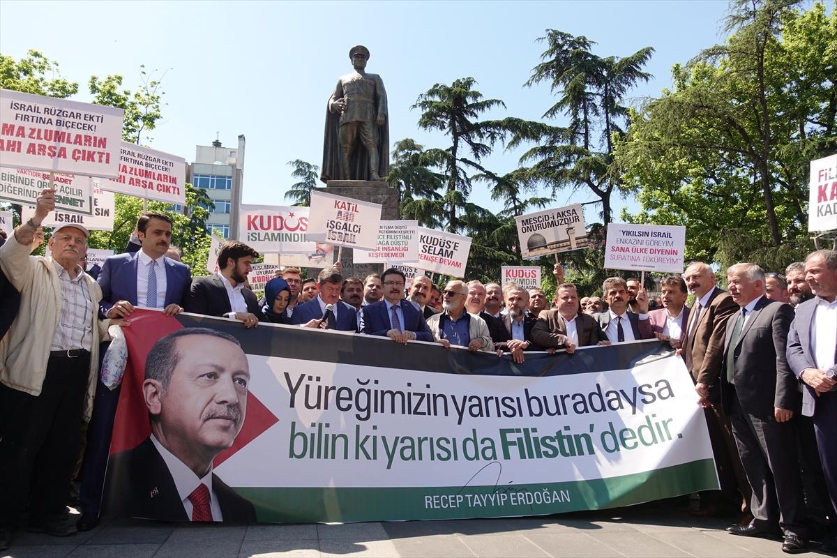 Trabzon'da ABD ve İsrail Protesto Edildi