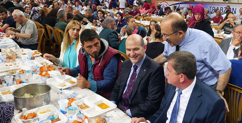 Trabzon'da şehir iftarı – Bakan Soylu geliyor