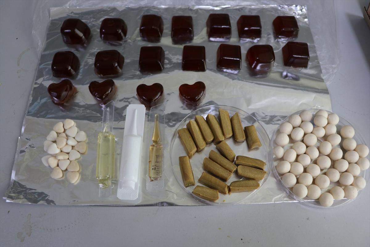 """Trabzon'da çocuklar için propolisli """"jeli şeker"""" ürettiler"""