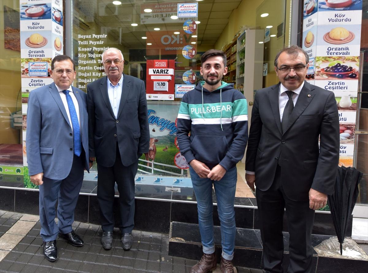 TTSO yönetimi, indirim uygulayan iş yerlerini ziyaret etti