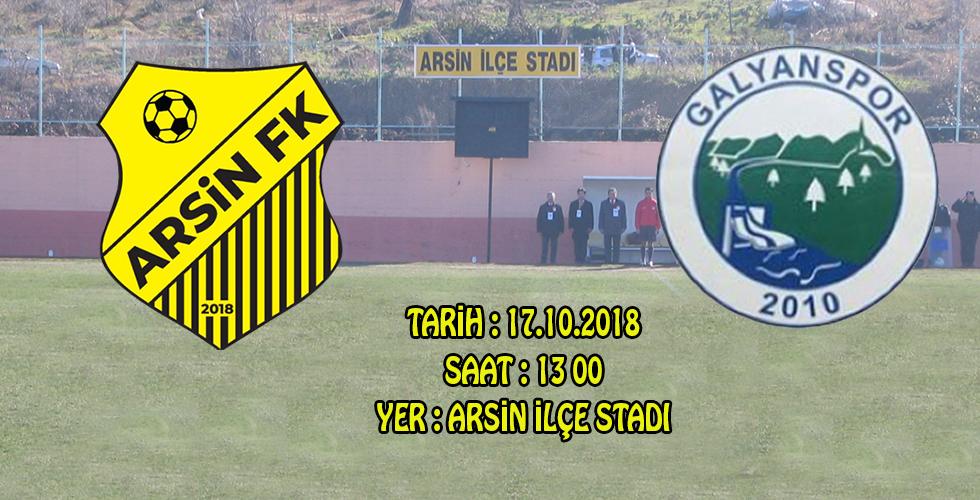 Arsin F.K. ligde ikinci maçına çıkıyor