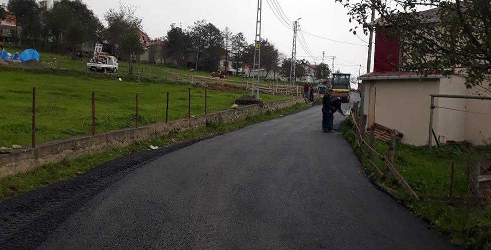 Çal Mağarasının yolunda asfaltlama çalışması yapıldı