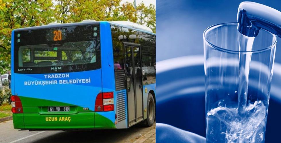 Trabzon'da toplu taşıma ve suya zam yapılmayacak