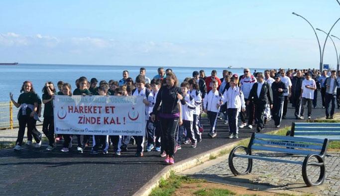Trabzon'da Dünya Yürüyüş Günü etkinliği