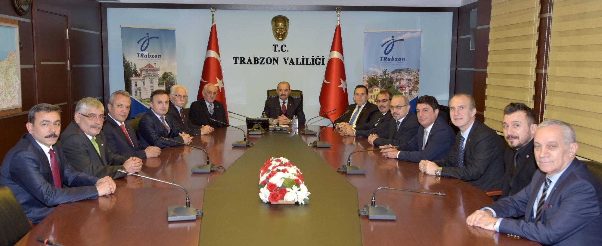 TTSO heyetinden Vali Ustaoğlu'na 'hayırlı olsun' ziyareti