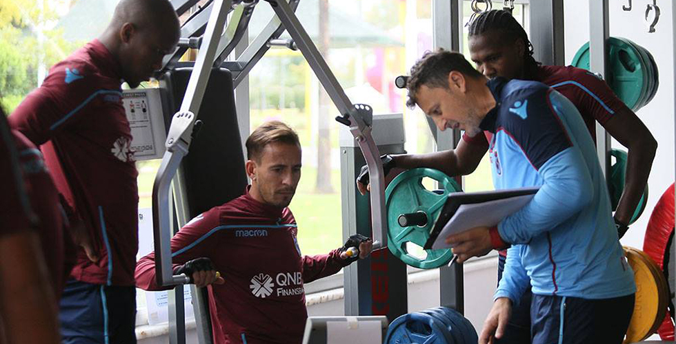 Trabzonspor kuvvet çalışması yaptı