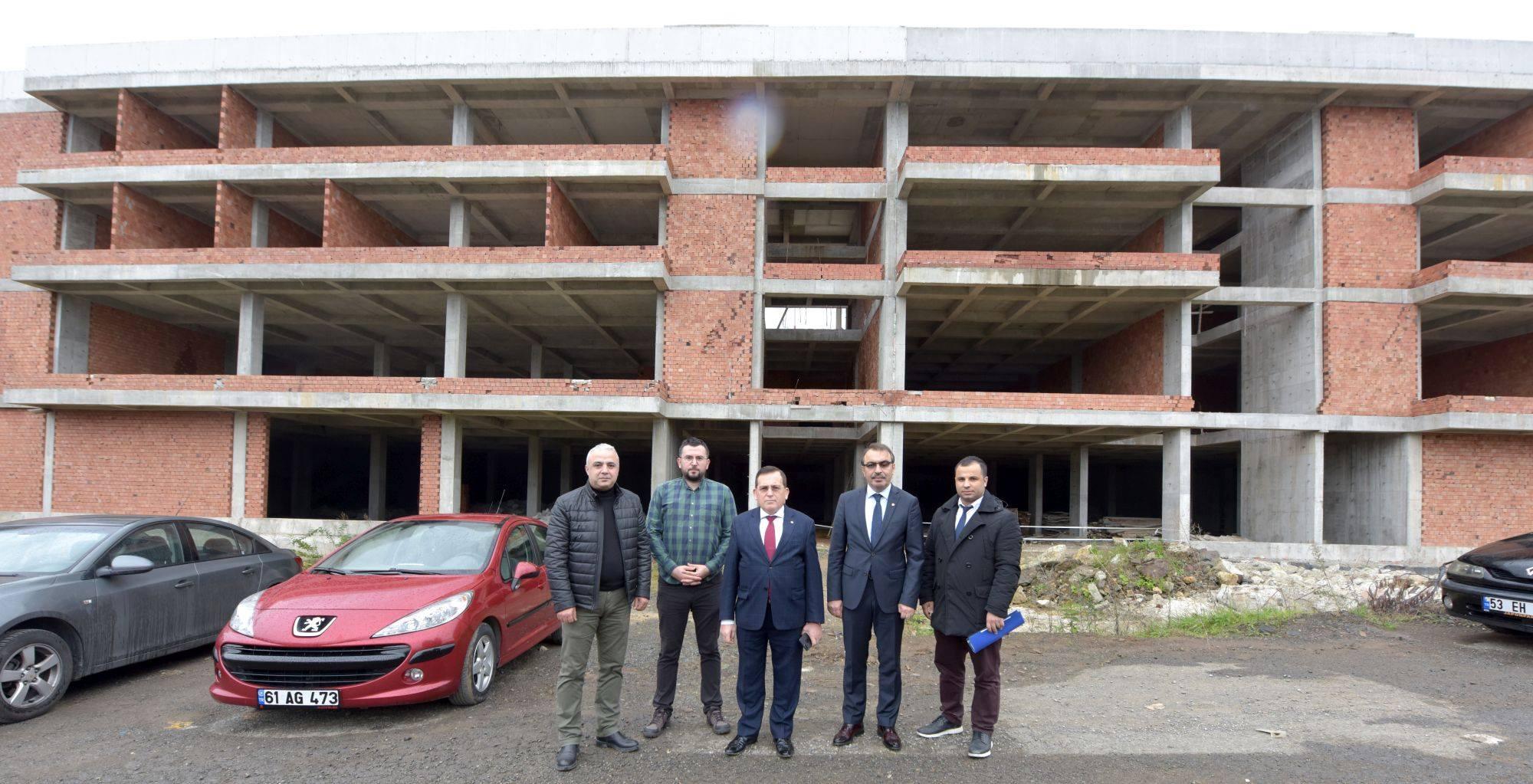 Trabzon'da İnovasyon ve Biyoteknoloji Merkezi inşaatı devam ediyor
