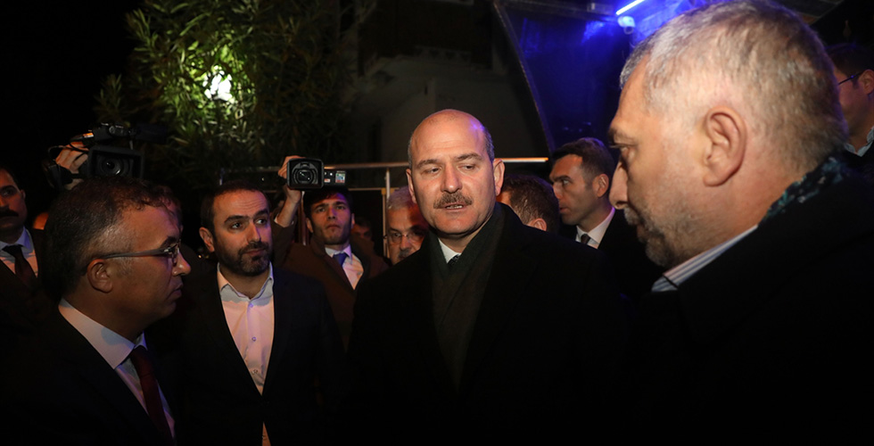 Bakan Soylu'dan Şehit Emniyet Müdürü Verdi'nin ailesine taziye ziyareti