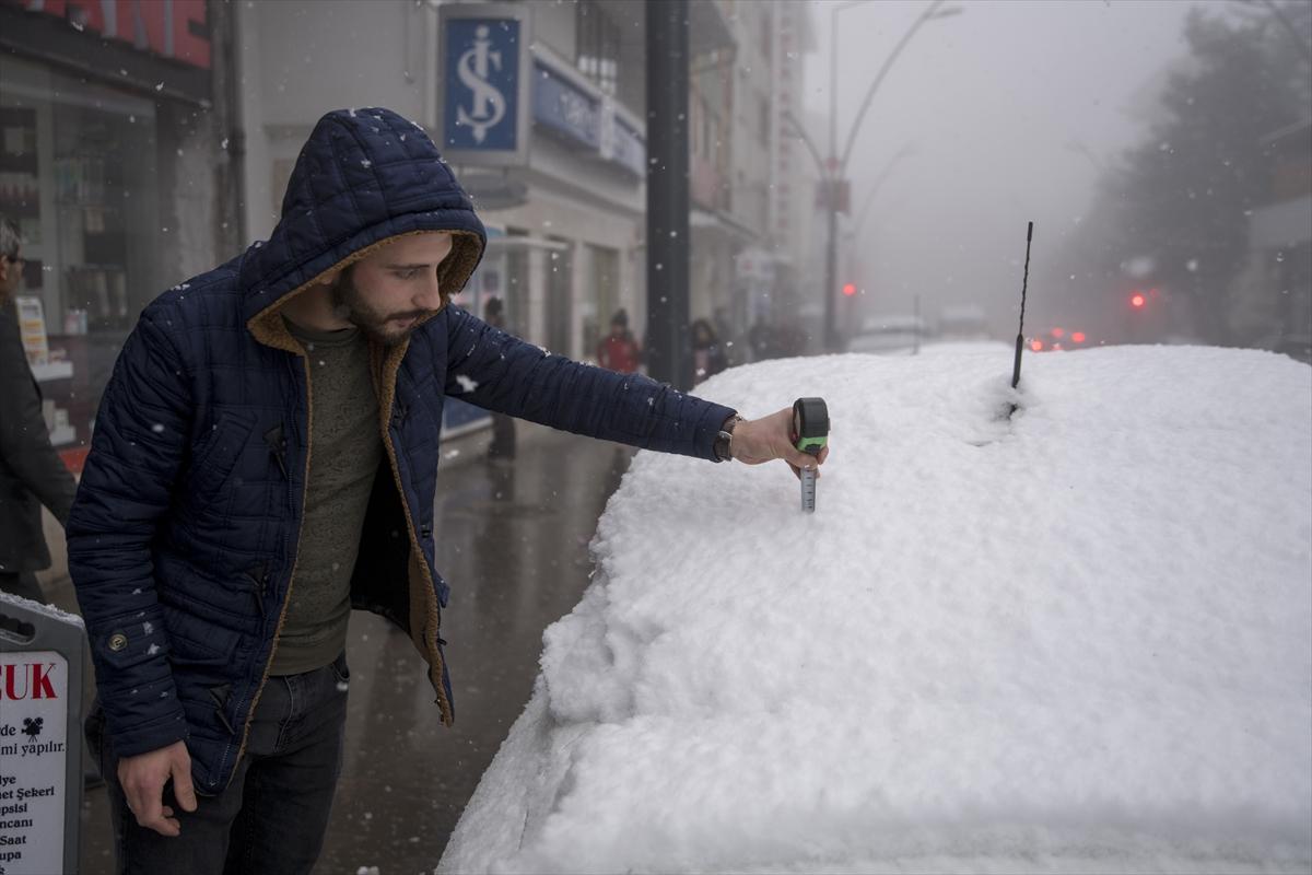 Karadeniz'de kar yağışı
