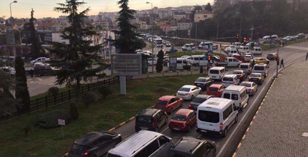 Trabzon trafiğinde pazartesi sendromu