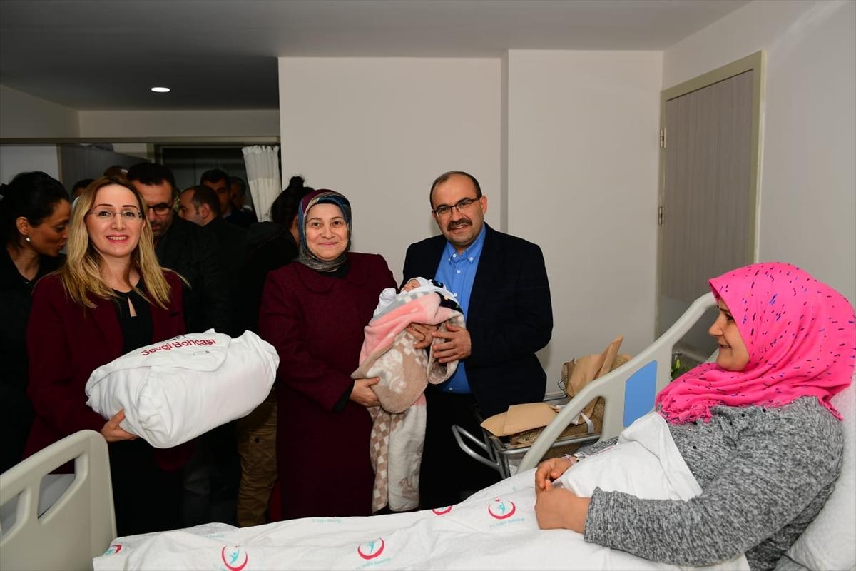 Trabzon'da yeni yılın ilk bebeği doğdu