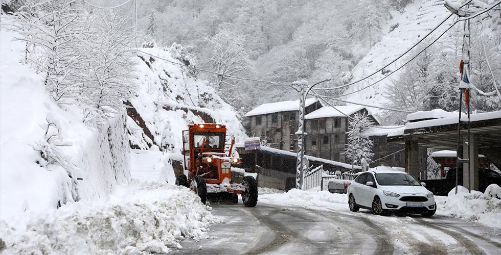 Trabzon'da 74 köye ulaşım sağlanamıyor