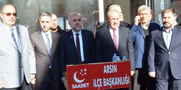 Saadet Partisi'nin Arsin adayı belli oldu