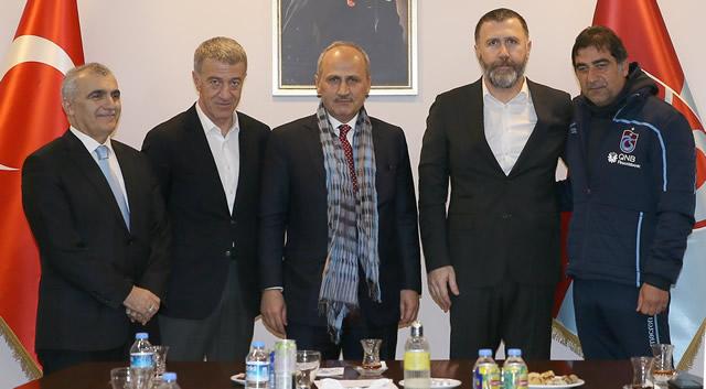 Bakan Cahit Turhan'dan Trabzonspor'a ziyaret