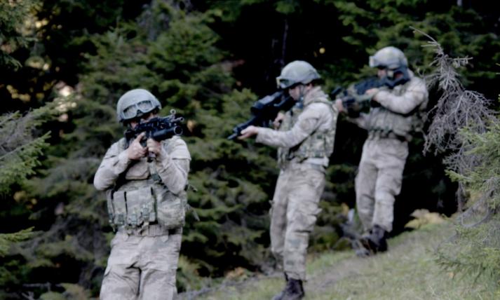 Trabzon dağlarında terörist avı