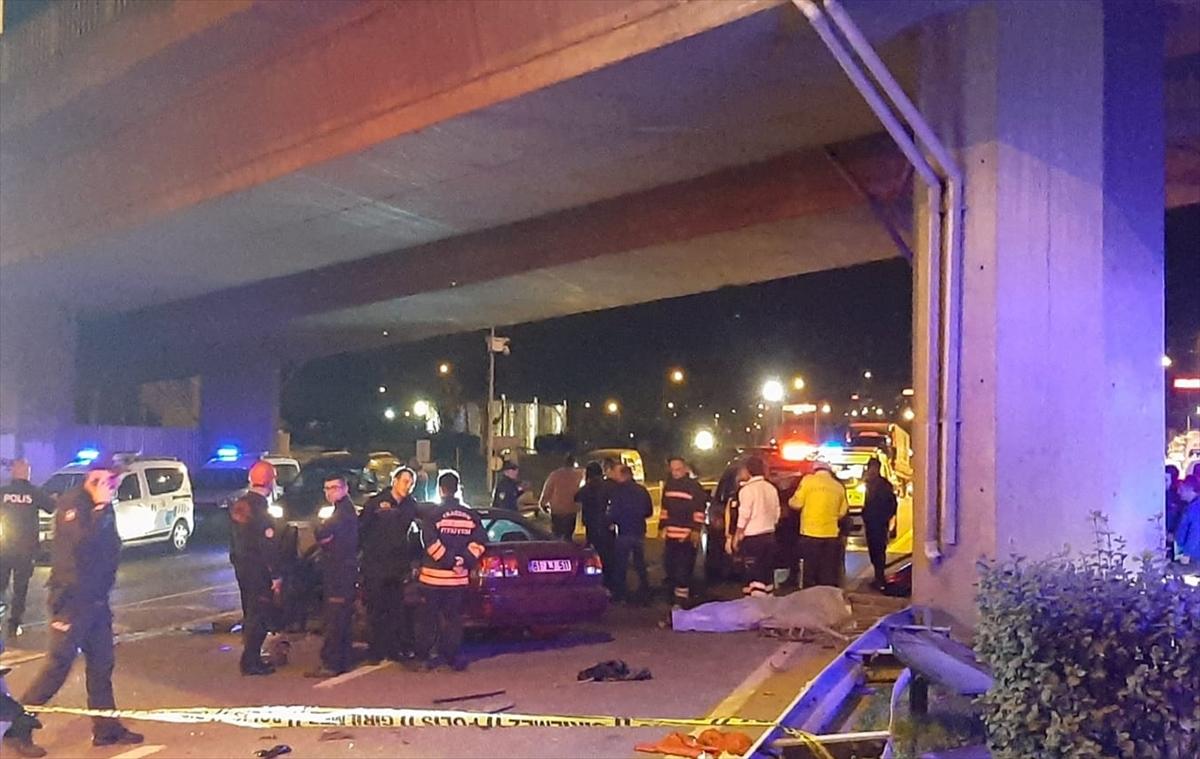 Trabzon'da otomobil köprü ayağına çarptı: 1 ölü, 4 yaralı