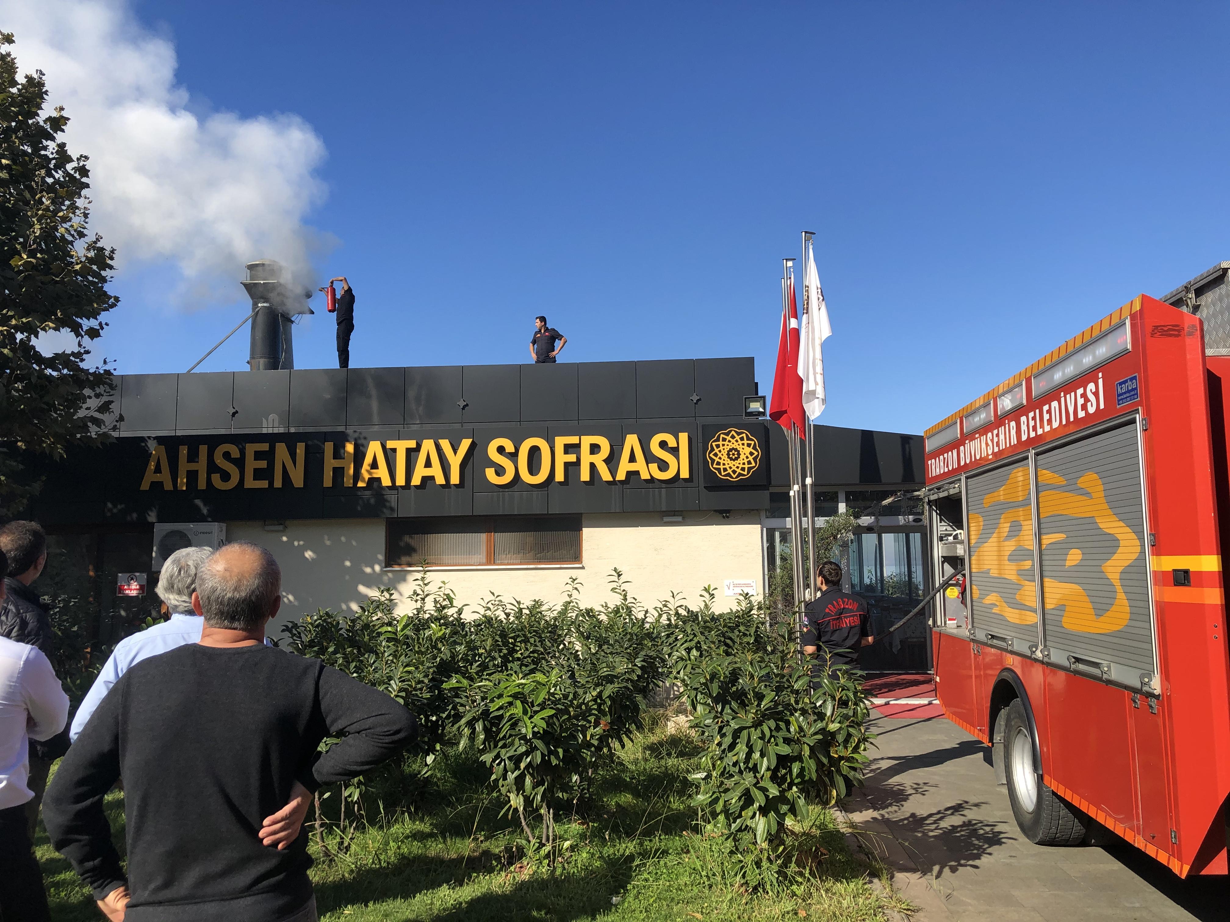Arsin'de baca yangını korkuttu