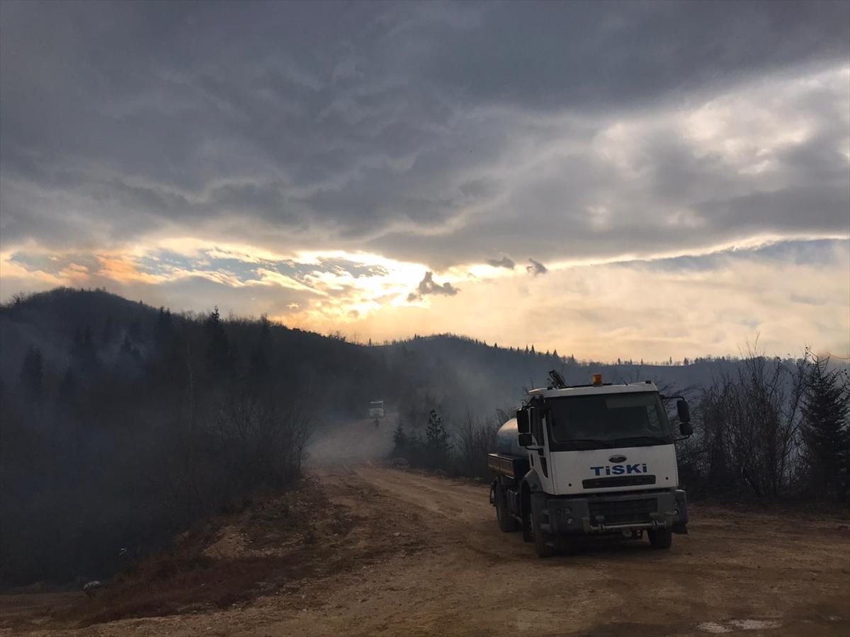 Trabzon'da örtü yangınları