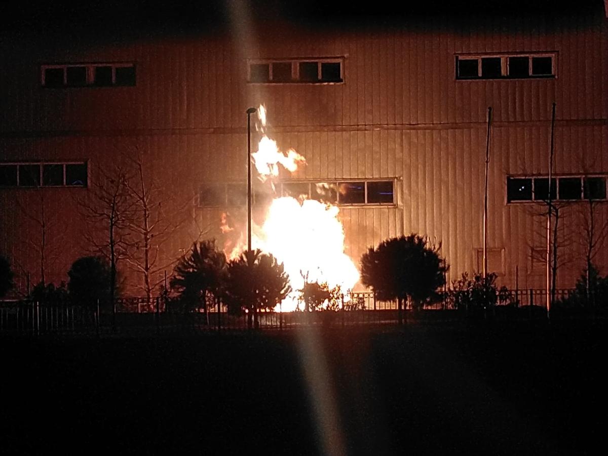 Trabzon'da atletizm stadının yakıt tankında yangın çıktı
