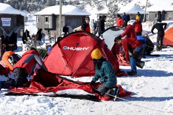 Türkiye Dağcılık Federasyonunun Kış Dağcılık Eğitimi, Zigana'da başladı