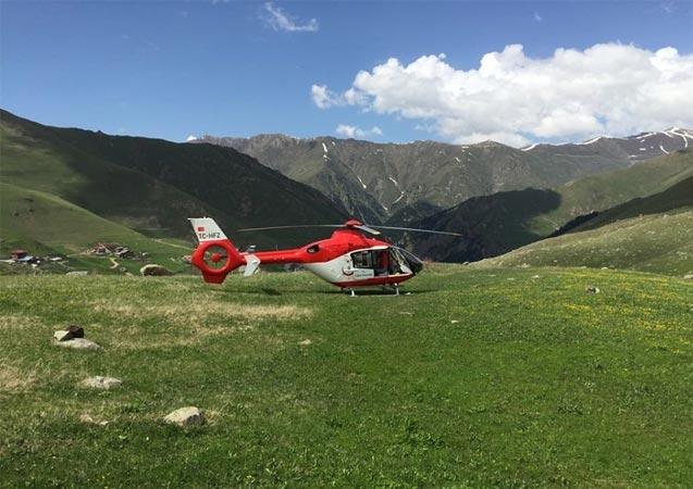 Trabzon helikopter ambulans 2019 yılında 255 hasta için havalandı