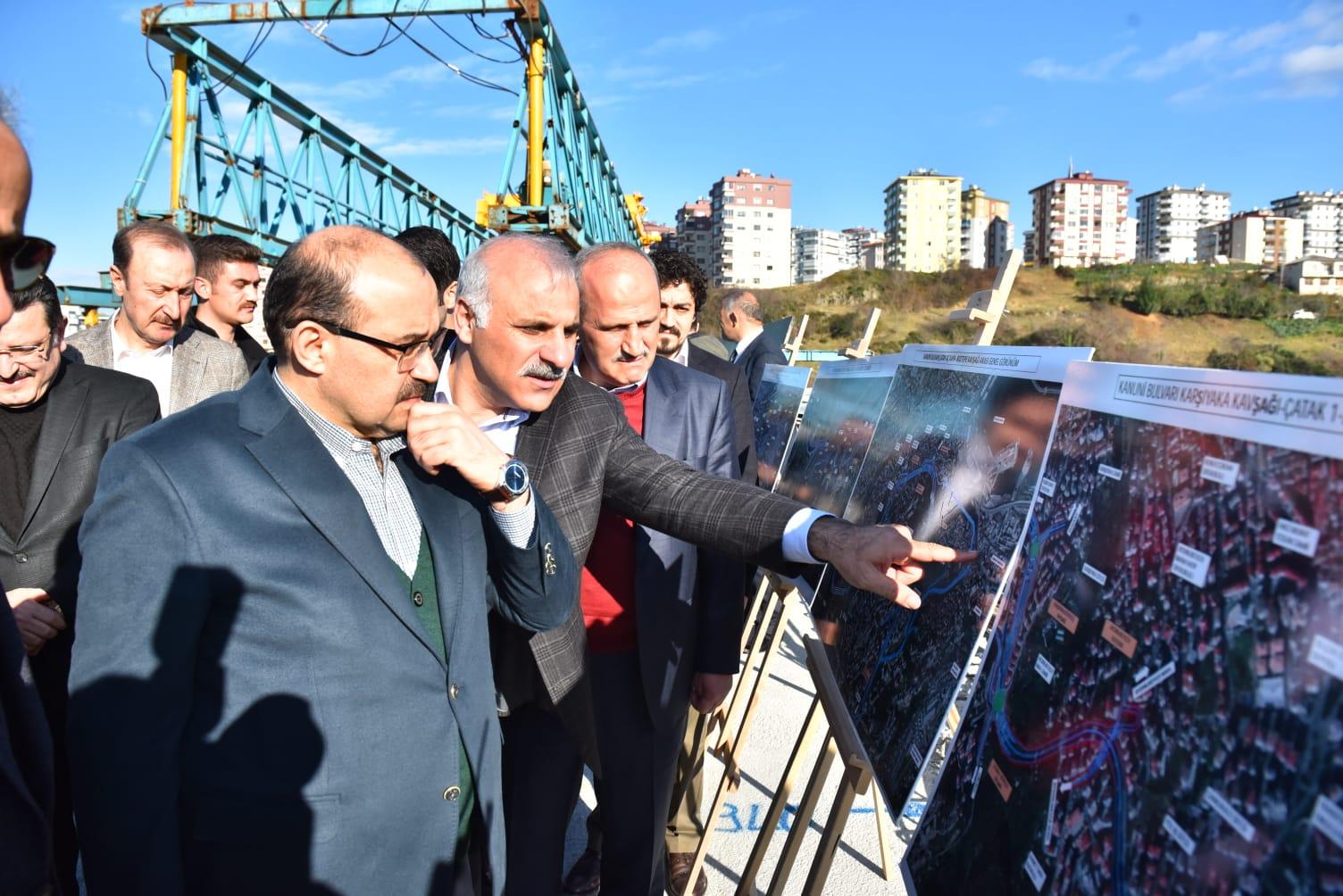 Başkan Turhan Trabzon'da İincelemelerde Bulundu