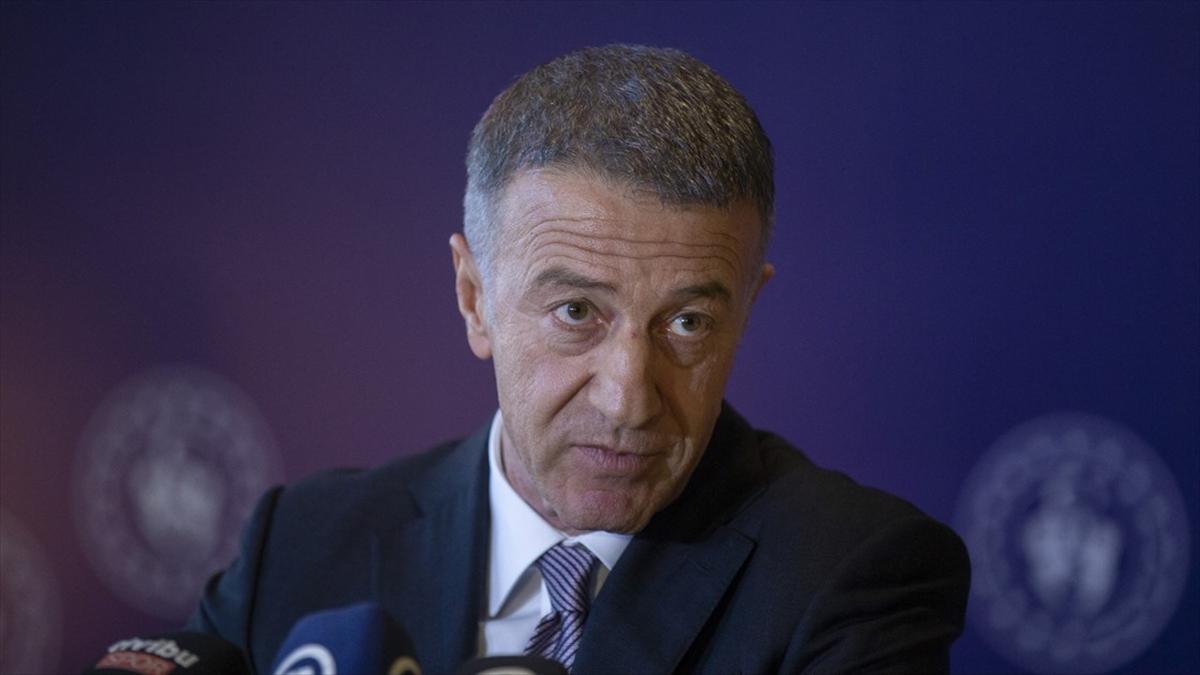 """Trabzonspor Kulübü Başkanı Ağaoğlu'ndan Beşiktaş Kulübü Başkanı Çebi'ye """"geçmiş olsun"""" mesajı"""